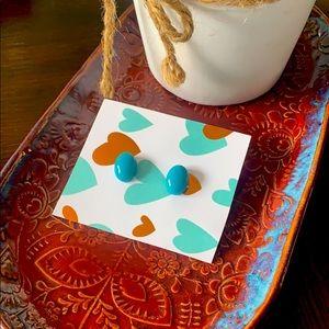Handmade Turquoise Resin Studs